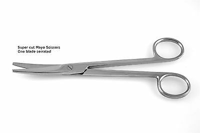 4 Super Cut Mayo Scissors 5.5 Curved Round Points Surgical Dental Instruments