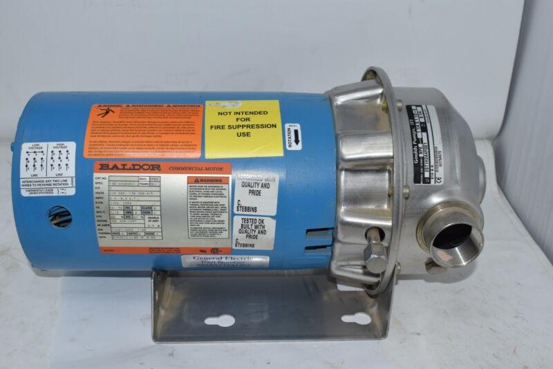 NEW Goulds Pumps 2ST1H2A4FGE1 NPE 1-1/4 x 1-1/2-6 316SS Pump Baldor Motor