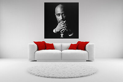Vintage Giclee Canvas (Tupac Shakur Portrait Canvas Vintage Giclee Print Picture Unframed Home Decor)