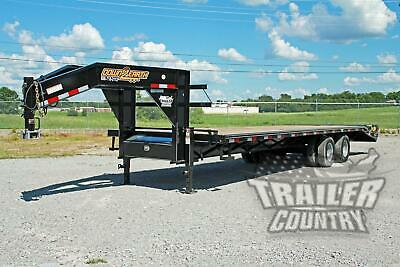 New 8 X 30 25 5 Dual Tandem 12 Ton Deckover Equipment Gooseneck Trailer