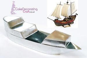 3D Novelty Cake Baking Tins and Pans | Pirate Ship Cake Shape