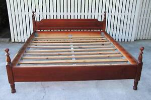 King size wood Bed very good condition Burpengary Caboolture Area Preview