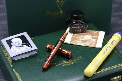Conway Stewart Churchill Red Ripple Limited Edition Lever Fill Fountain Pen