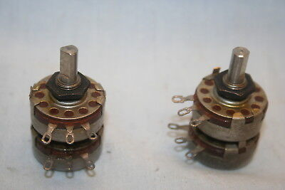 1 Meg 100k Dual Audio Taper Ab Allen Bradley Type J Potentiometer Carbon Pots