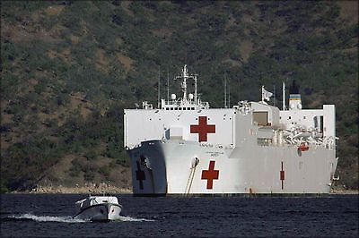 Military Sealift Command Ships - Poster, Many Sizes; Military Sealift Command Hospital Ship Usns Mercy