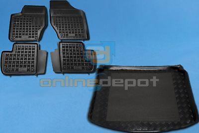 Gummi-Fußmatten+Kofferraumwanne PEUGEOT 308 II Fließheck 2013-heute