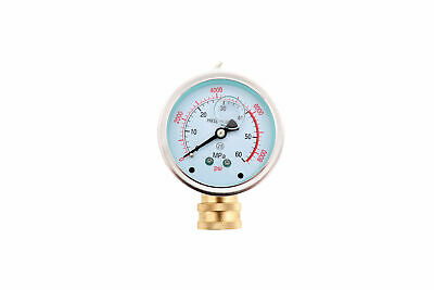 8000 Psi Pressure Power Washer Gauge With 38 Quick Connect Coupler Fitting