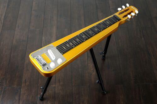 Nashville by QUINCY 6 String Lap Steel Slide Guitar legs tone bar Metallic Gold