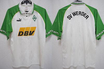1995-1996 SV Werder Bremen Soccer Football Jersey Shirt Trikot Home DBV Puma M image