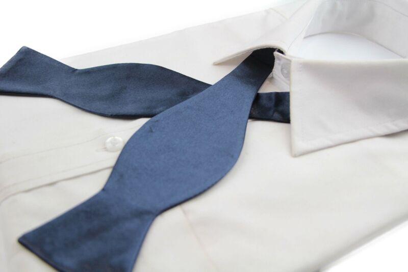 Mens Midnight Blue Self Tie Bow Tie