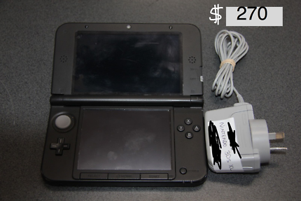 3DS XL with games and charger