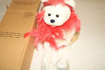CHANTILLY LANE - Singing Bear Figure - ROXIE - I WANT TO BE LOVED BY YOU - Chantilly Lane Singing Dolls