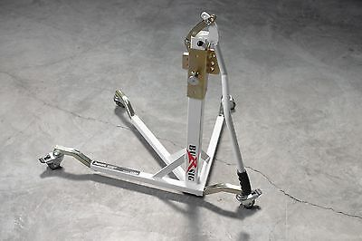 BURSIG Motorcycle Center-Lift Stand Paddock Garage Olympic White *BACKORDERED*