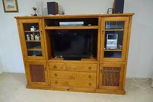 Solid Timber Entertainment Unit Clontarf Redcliffe Area Preview