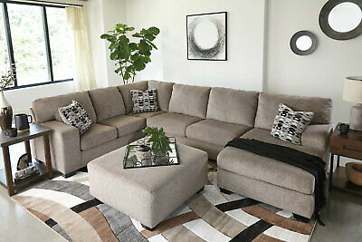 modern sectional living room furniture tan chenille