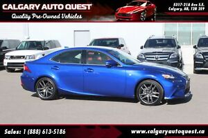 2015 Lexus IS 250 F-SPORT AWD/NAVI/B.CAM/LEATHER/ROOF