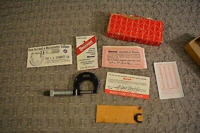 Starrett T436xrl-1 0001 0-1 Micrometer Toolmaker Machinist Mill Grind Inspect