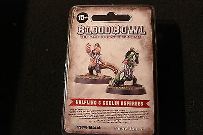 Games Workshop Bloodbowl Halfling and Goblin Referees Limited Edition Forgeworld