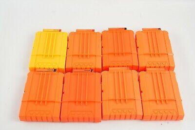 Lot 8 Nerf 6 Round N-strike Elite Dart Clip Magazine Orange