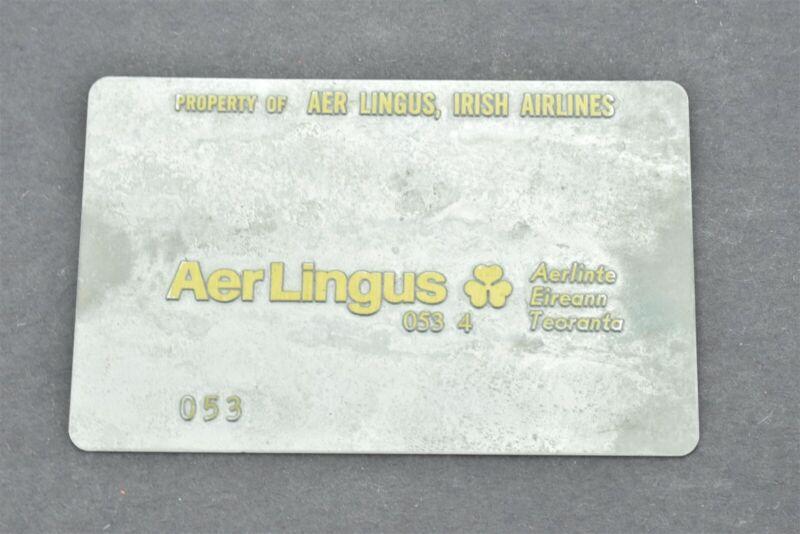 Aer Lingus Irish Airlines Validation Plate