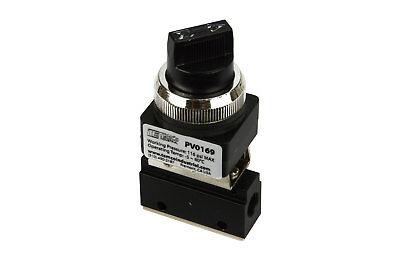 Rotary Control Valve (Latching Rotary Knob NC Pneumatic Control Valve 2 Port 2 Way 2 Position 1/8