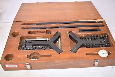 Vintage Shaft Alignment Kit Starrett Mixed Kit W Wooden Carrying Case