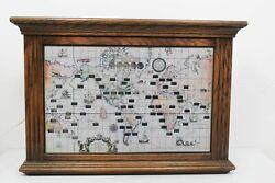 Vintage Mid Century Howard Miller World Time Oak Mantle Wall Clock Model 612 371