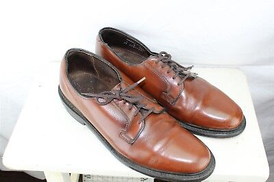 Stafford Brown Leather Oxford 9 B Men's Shoes
