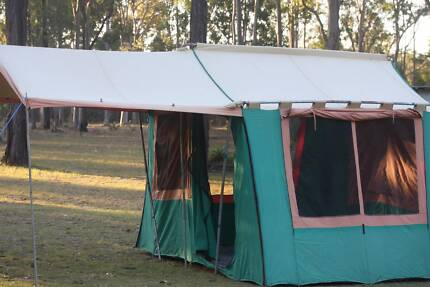 STRAIGHT WALL CANVAS AND POLE TENT 4.4 m Long x 2.9 m W x 2.1 m H Grafton Clarence Valley Preview