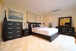 Hardwood Midnight 4pc Bedroom Suite (Queen/King) - Brand New Elsternwick Glen Eira Area Preview