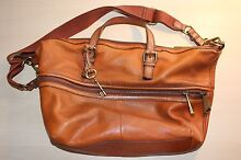 Fossil Leather Woman's Bag Lyons Woden Valley Preview