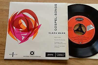 CLARA WARD Gospel-Songs 7'' single London BL 8034-P Club Ed. OIS RARE