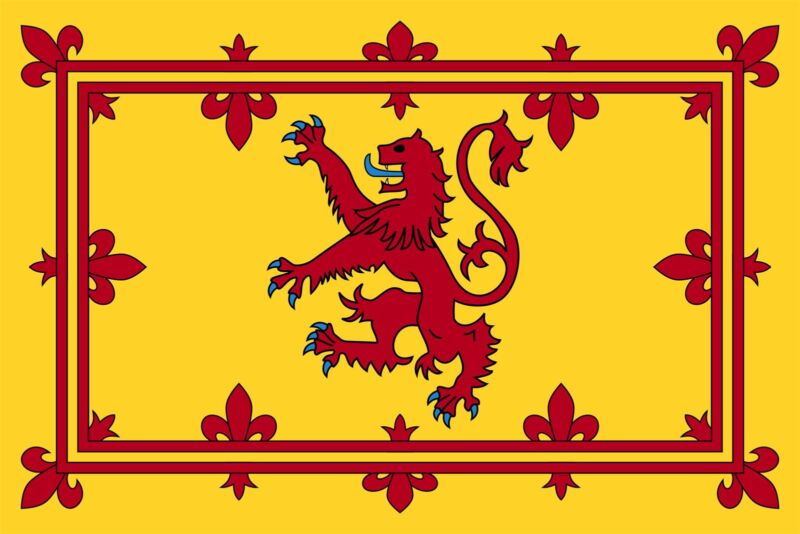 Large Scotland Pampant Red Lion Flag Sports Scottish Rugby Supporters Fans 3x5FT