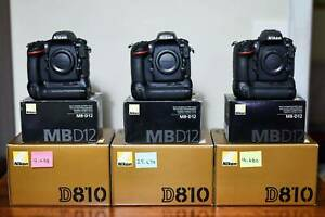 3x Nikon D810s and Nikon MB-D12 Battery Grips RRP $3,750 each