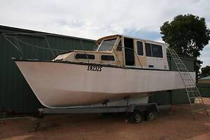 30FT STEEL HULL RIVER CRUISER.   EXCELLENT PROJECT BOAT. Barossa Area Preview