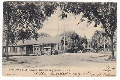 Richmond Hill Queens LI NY -RICHMOND HILL RAILROAD STATION- Tuck Postcard for sale  Shipping to Canada
