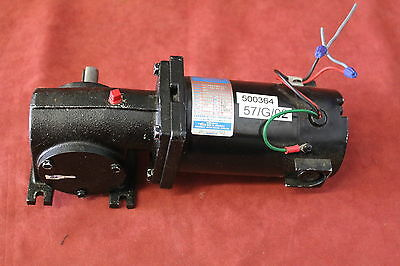 Leeson Cm34d25nz9b Gear Motor 18hp 90v 500rpm Fame 34 Used