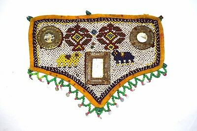Vintage Rare Hand Embroidery Work Kutch Heavy Beaded Wall Hanging Décor. i17-366