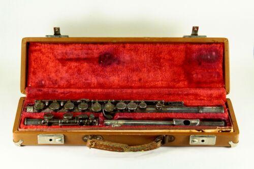 = Vintage c.1940 Flute Ida Maria Grassi Milano Italy Prestige Model w. Case
