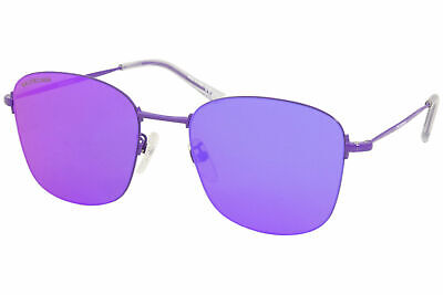 Balenciaga Everyday BB0061SK 002 Sunglasses Women's Violet/Violet Lenses 55mm