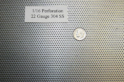 Perforated 304 Stainless Steel 116 Inch Hole 22 Gauge Price Per 5 Square Inch