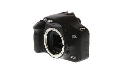 Canon EOS 500D Black (Euro Rebel T1I) Digital SLR Camera Body {15.1 M/P} BG