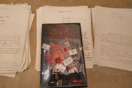100+ pages of the original manuscript of The Master Magicians by Walter Gibson.