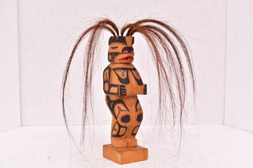 VTG Native American Tlingit Haida Carved Wood Shaman medicine Man Figure Statue