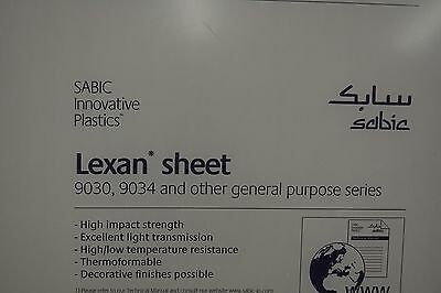 Lexan Sheet Polycarbonate Clear 316 X 12 X 8