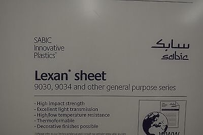 Lexan Sheet Polycarbonate Clear 316 X 36 X 24
