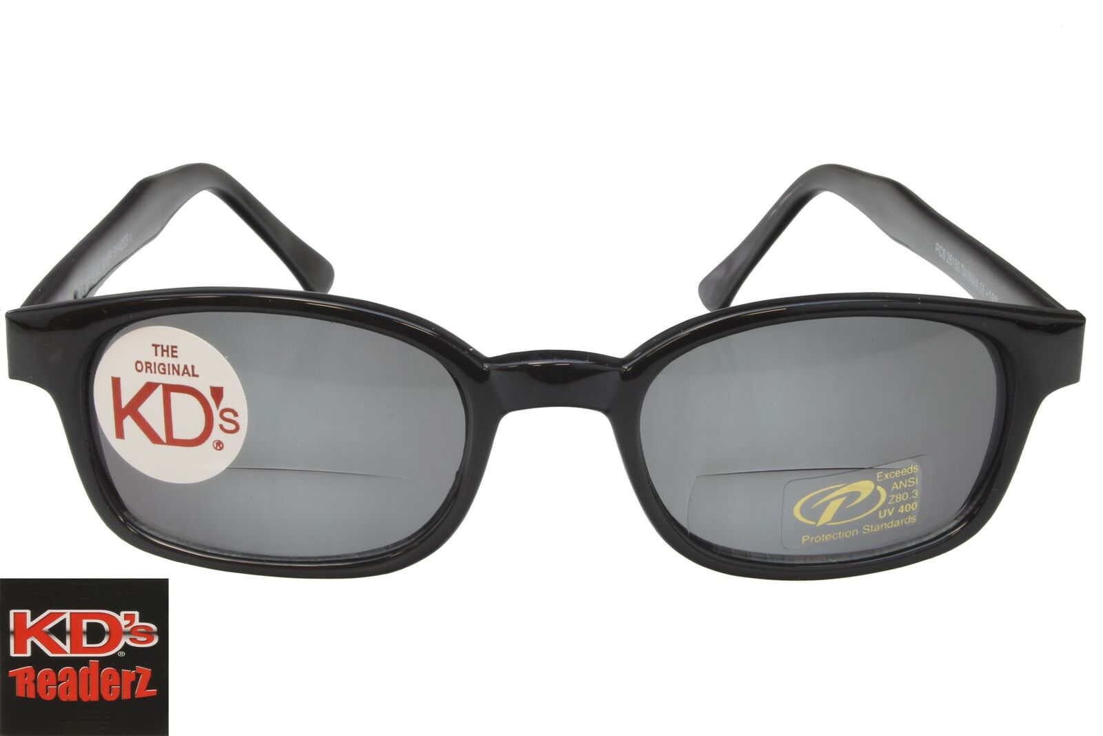 2102f9fdee15 Details about KD s Readers Bifocal Glasses Readerz Smoke Gray Motorcycle  Sunglasses 2.00 28200