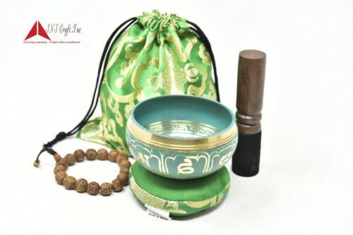 "3.5"" Tibetan Meditation Yoga Singing Bowl  Mallet, Cushion, Carry bag& hand Bead"