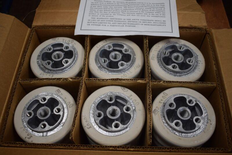 Lot of 6 NEW PPC 70003 Insulators Porcelain Insulators 6