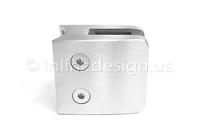 Stainless Steel Square Glass Clamp for Round covid 19 (Steel Square Glass Clamp coronavirus)